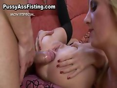 Whore gets her gaping ass fisted part3