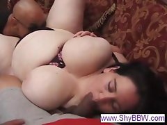 Busty BBW titty fucks and sucks before she gets fat pussy pounded