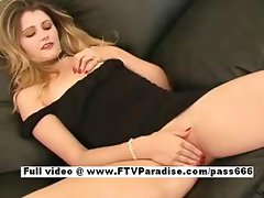 Chloe hot naked blonde girl on the couch