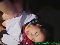Asian schoolgirl is enjoying showing part2
