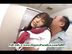Arisa kanno young japanese schoolgirl in the bathroom