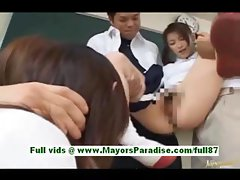 Akane sakura adorable japanese schoolgirls at school