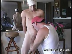 Hot straight guys in gay porno action part5