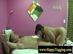 Chubby full body asian massage
