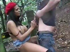 British indian babe outdoor sex