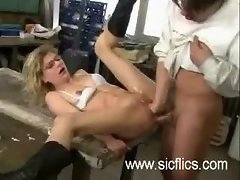 Extreme double fist & cock penetration