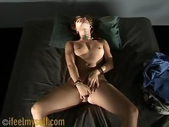 Small-Tit Bitch Has A Seizure Fingering Her Hole