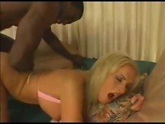 Beautiful Caley ass ravaged by a big black cock