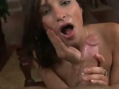 Nice blow from cute gal