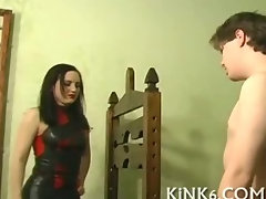 Rick Savage binds and punishes