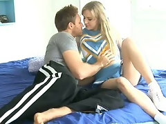 Teen student rides mature dick