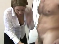 Office cfnm sexy bitches suck on cock