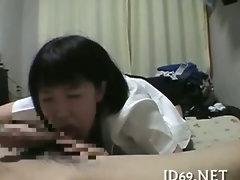 Asian girl showing body