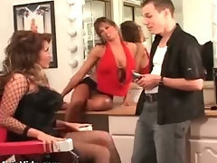 Busty bisexual asian hoes sharing cock