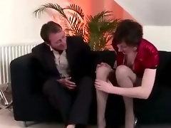 Mature stockings amateur hoe