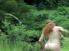 REAL REDHEAD ISABEL HAIRY PUSSY LOVE SALSA OUTDOORS 2