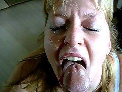 Sucky Facial When She Sucks To Swallow