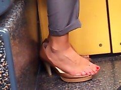 voyeur foot in the train