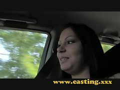 Casting - outside creampie for teen