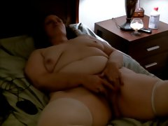 Naked chubby wife