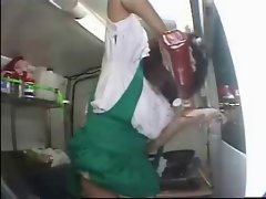 Girl Makes Food while she Gets an Orgasm by snahbrandy
