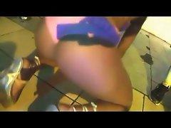 Baile funk Brazil nude public