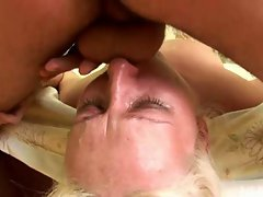 A big cock destroys all three of her holes
