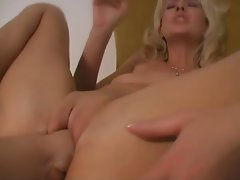 Hot Blonde MILF Close-Up Fisted