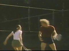 Kay Parker plays a tennis match