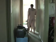 Hairy amateur couple having sex at home