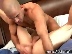 Couple of hardcore gay guys get nasty in the bedroom