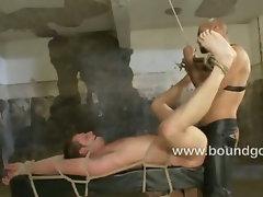 Spencer belittles the weak Tony Hunter