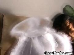 Black Amateur Ex Girlfriend In Angel Costume Fucked