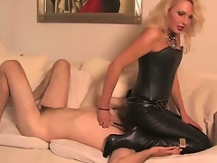 CBT punishment w leather knee high boots
