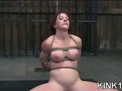 Babe Does Splits in Bondage