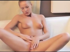 Red sexy dildo in her sweet snatch