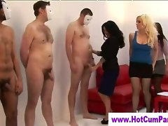 Cfnm slutty group british girls handjobs cumshots