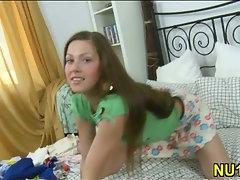 Lovely teen girl gets fucked