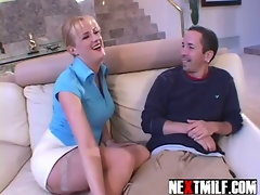 Horny housewife dick slurping