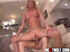 Blonde Cougar Getting Dirty