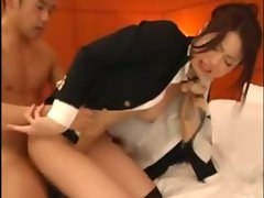Asian business lady gets rammed