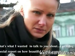 Superb Czech girl picked up and fucked right outside the car