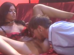 India Summers can't get enough cock so she even fucks a Sexy nerd