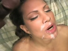 One isn't not enough for Teri Weigel as she takes to milky showers