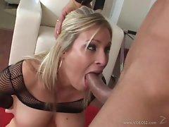 Sensual Harmony Rose chokes on this hard throbbing cock