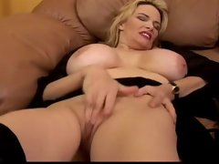 Lyn Lemay is a hot MILF with a big bust who gets fucked and cums
