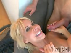 Erica Lauren gets her face drizzled with warm cum