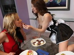 Nikki Sexxx and Lexi Bloom go after one cock until it surrenders