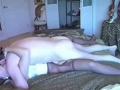Nasty home grown slut gets her used up twat explored by big cock stud