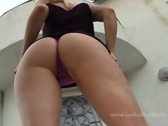 Blonde Cherry Torn is pounded by a black steak